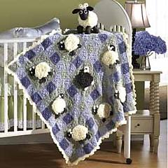 Ba-Ba Black Sheep Blanket (kit)