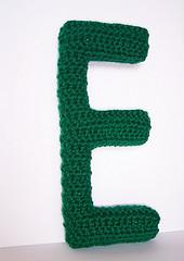 Capital E Alphabet Letter Pattern