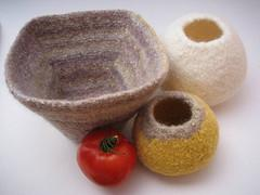 Felted pod