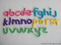 Crochet Pattern - ALPHABET applique - Lower Case