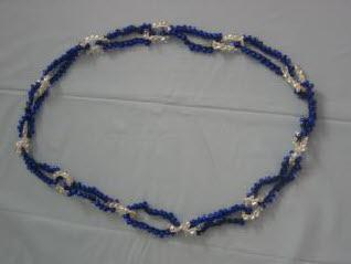 Blue and white rochelle necklace