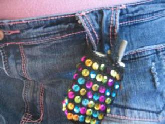 Sequin cell phone holder