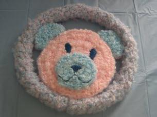 Bear rolling ring toy