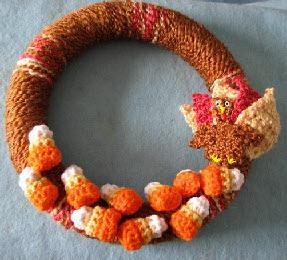 Fall turkey wreath