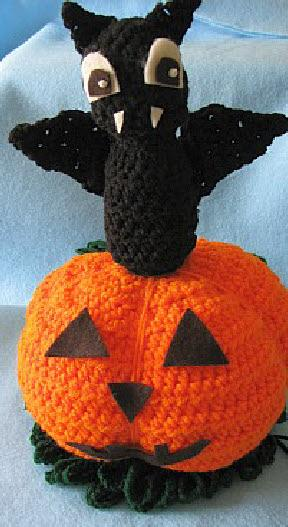 Bat on a pumpkin