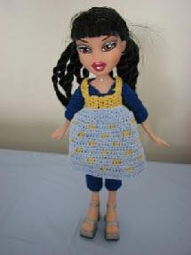 Fashion doll all in one outfit and dress