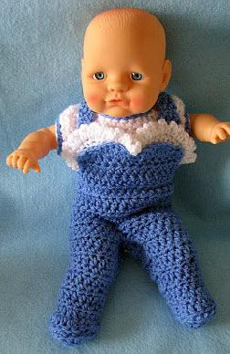 12-inch baby doll over alls and top