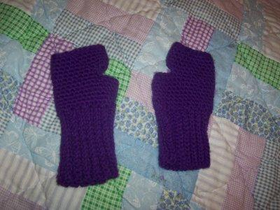 Easy Ribbed Fingerless Gloves