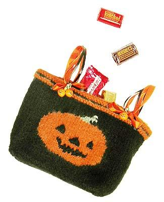 Felted Halloween Trick or Treat Bag