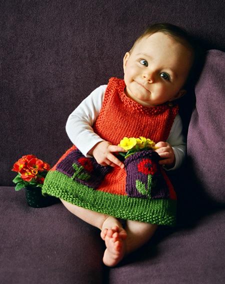 Patternlinks Free Knitting Patterns Baby Dresses