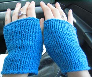 Obnoxiously Simple Fingerless Gloves