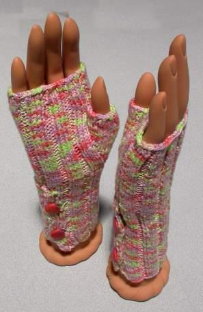 Buttoned-Up Fingerless Gloves