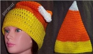 Candy Corn Cone Hat
