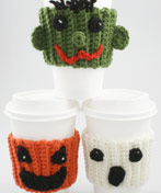 Crochet Halloween Coffee Buddies