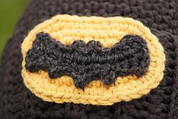 Crocheted Batman Logo