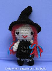 Free Little Witch Halloween crochet pattern