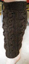 Bobbled Cable Leg Warmers