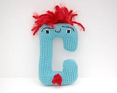 Letter C - Alphabet Plush Toy Knitting PATTERN - Carl