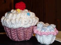 Crochet CupCake with Cherry & Sprinkles