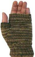 21C Fingerless Mitts in 8 Ply