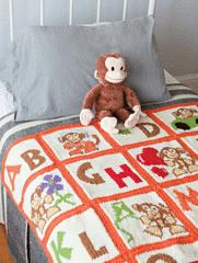 Alphabet Monkey Blanket