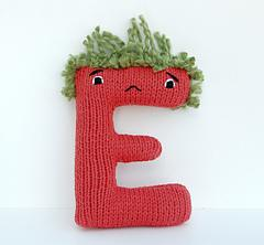 Letter E - Alphabet Plush Toy Knitting PATTERN - Esteban