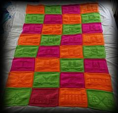 Alphabet Train Blanket