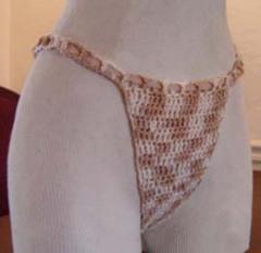 Coronado Beach Thongs using Suede (Crochet)